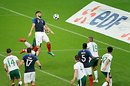 Olivier GIROUD (FRA) headed the ball to score, Shane Long (IRL), Adil RAMI (FRA), Alan Browne (IRL), Samuel UMTITI (FRA), Declan Rice (IRL), J. WALTERS (IRL), Derrick Williams (IRL) during the FIFA Friendly Game football match between France and Republic of Ireland on May 28, 2018 at Stade de France in Saint-Denis near Paris, France - Photo Stephane Allaman / ProSportsImages / DPPI