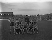 01/12/1957<br /> 01/12/1957<br /> 01 December 1957<br /> Soccer: Shamrock Rovers v Evergreen United at Glennmalure Park, Milltown, Dublin. The Evergreen team.