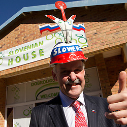 20100618: World Cup South Africa 2010, President of Slovenia dr. Danilo Turk at Slovenian House