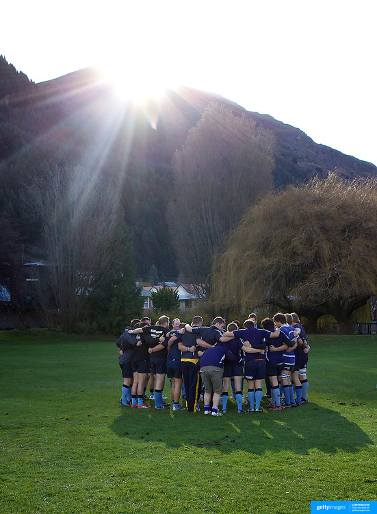 Wakatipu preparing for the game during the Wakatipu V Arrowtown Rugby Match at Queenstown Recreation Ground,  Queenstown, South Island, New Zealand, 11th June 2011