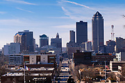 26 DECEMBER 2020 - DES MOINES, IOWA: Looking west towards downtown Des Moines. Des Moines is the capital and largest city in Des Moines. The city has a population of about 215,000 and was established in May, 1843.        PHOTO BY JACK KURTZ