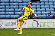 Wimbledon midfielder Mitch Pinnock (11) with a shot during the EFL Sky Bet League 1 match between Coventry City and AFC Wimbledon at the Ricoh Arena, Coventry, England on 12 January 2019.