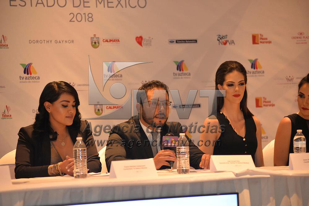 Metepec, México (Febrero  16, 2018).- Las 9 semifinalistas del Certamen Mexicana Universal Estado de México compartieron su experiencia en este concurso rumbo a la gran final a realizarse el 4 de Marzo en el Teatro Morelos.  Agencia MVT / Crisanta Espinosa.