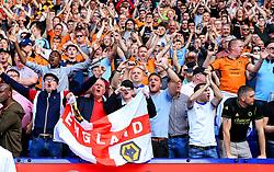 Wolverhampton Wanderers fans celebrate - Mandatory by-line: Matt McNulty/JMP - 21/04/2018 - FOOTBALL - Macron Stadium - Bolton, England - Bolton Wanderers v Wolverhampton Wanderers - Sky Bet Championship