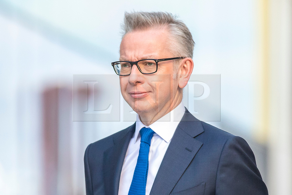 © Licensed to London News Pictures. 16/06/2019. London, UK. Secretary of State for Environment, Food and Rural Affairs Michael Gove after taking part in the first televised debate between Conservative Party leadership contenders. Frontrunner Boris Johnson did not take part in the Channel 4 debate. Photo credit: Rob Pinney/LNP