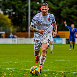 Shane White on the ball for Truro City at the Webbswood stadium 24/10/2020