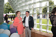 JENNIFER ESPOSITO; JIM ESPOSITO, 2016 SERPENTINE SUMMER FUNDRAISER PARTY CO-HOSTED BY TOMMY HILFIGER. Serpentine Pavilion, Designed by Bjarke Ingels (BIG), Kensington Gardens. London. 6 July 2016