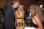 JAMES COOK; POPPY DELEVIGNE; KELLY HOPPEN, Cartier Tank Anglaise launch. Kensington Palace Orangery, London.  19 April 2012.