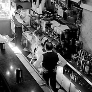 Staff working in Horchateria el Siglo cafe, Valencia, Spain (December 2006)