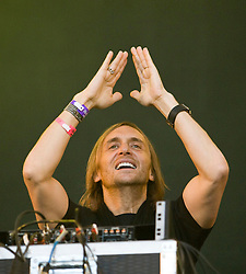 David Guetta on the main stage. Rockness, Saturday 13th June 2009..Pic © Michael Schofield. All Rights Reserved.