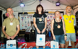 Podium after 10th Nocna 10ka 2016, traditional run around Bled's lake, on July 09, 2016 in Bled,  Slovenia. Photo by Vid Ponikvar / Sportida