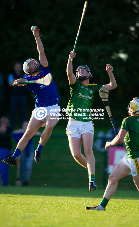 13-07-21. Meath v Wicklow - Leinster U-20 B Hurling Championship (Richie McElligott Cup) 2021 at St. Loman's Park, Trim.<br />Shaun Cranley, Wicklow in action against Sean Doyle, Meath in the Leinster U-20 B Hurling Championship (Richie McElligott Cup) 2021<br />Photo: John Quirke / www.quirke.ie<br />©John Quirke Photography, 16 Proudstown Road, Navan. Co. Meath. (info@quirke.ie / 046-9028461 / 087-2579454).