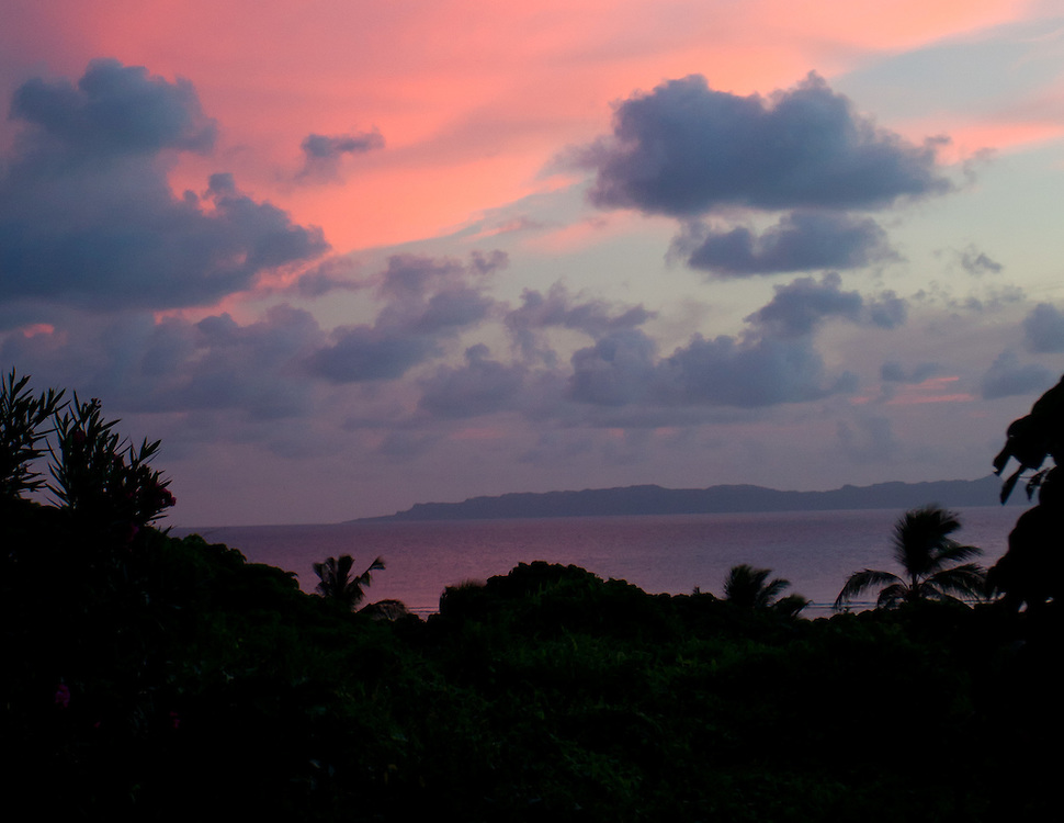 Pink Sky and Purple Clouds after Sunset, Fiji