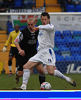 Photo: Paul Greenwood.<br />Tranmere Rovers v Swansea City. Coca Cola League 1. 10/03/2007.<br />Tranmere's Paul Mclaren (R) shields the ball from Swansea's Ian Craney