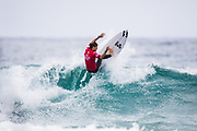 Reef Heazlewood of Australia will surf in Round Two of the2018 Jeep World Junior Championship after placing second in Heat 3 of Round One at Kiama, NSW, Australia. . FOR EDITORIAL NEWS USE ONLY