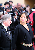 Robert De Niro and Grace Hightower at the gala screening Madagascar 3: Europe's Most Wanted at the 65th Cannes Film Festival. On Friday 18th May 2012 in Cannes Film Festival, France.