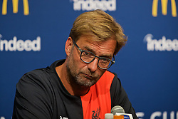 SANTA CLARA, USA - Friday, July 29, 2016: Liverpool's manager Jürgen Klopp during a press conference ahead of the International Champions Cup 2016 game against AC Milan on day nine of the club's USA Pre-season Tour at the Levi's Stadium. (Pic by David Rawcliffe/Propaganda)