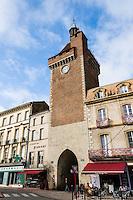 France, Villeneuve-sur-Lot. Old town by the Lot River. Porte de Pujols.