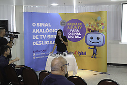 April 25, 2018 - Boa Vista, Brazil - BOA VISTA, RR - 25.04.2018: PRESS CONFERENCE RR ANALOG SIGNAL - Collective announcing the end of analogue TV in the state of Roraima and the entry of digital tv this Wednesday (25) (Credit Image: © Fabio GonçAlves/Fotoarena via ZUMA Press)
