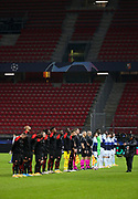 Teams presentation before the UEFA Champions League, Group E football match between Stade Rennais and Chelsea on November 24, 2020 at Roazhon Park in Rennes, France - Photo Jean Catuffe / ProSportsImages / DPPI