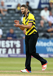 Andrew Tye of Gloucestershire celebrates taking the wicket of Dominic Sibley of Surrey - Mandatory by-line: Robbie Stephenson/JMP - 06/07/2016 - CRICKET - Brightside Ground - Bristol, United Kingdom - Gloucestershire v Surrey - NatWest T20 Blast