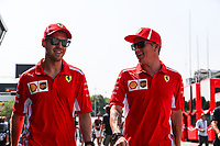 Sebastian Vettel Ferrari Kimi Raikkonen Scuderia Ferrari<br /> Monza 30-08-2018 GP Italia <br /> Formula 1 Championship 2018 <br /> Foto Federico Basile / Insidefoto