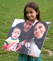 Gabriella Ratcliffe At the  photocall the  took place in Parliament Square to mark Nazanin Zaghari-Ratcliffe's 2000th day of being detained in Iran, A giant snakes and ladders board was used to show the ups and downs of Nazanin's case photo by Leigh Bruin