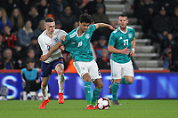 Football - 2018 / 2019 Under-21 International Friendly - England U21 vs. Germany U21<br /> <br /> Englands Phil Foden gets to grips with Mahmoud Dahoud of Germany during the second half at The Vitality Stadium (Dean Court) Bournemouth England <br /> <br /> COLORSPORT/SHAUN BOGGUST