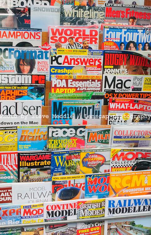 Magazine Display in Newsagents