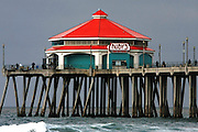 Huntington Beach Pier and Ruby's Diner Restaurant, Orange County California