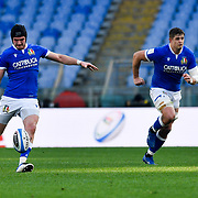Roma 13/03/2021, Stadio Olimpico<br /> Guinness Six Nations 2021<br /> Italia vs Galles<br /> <br /> Carlo Canna e Johan Meyer