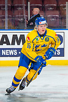 KELOWNA, BC - DECEMBER 18:  Filip Westerlund #16 of Team Sweden warms up against the Team Russia at Prospera Place on December 18, 2018 in Kelowna, Canada. (Photo by Marissa Baecker/Getty Images)***Local Caption***