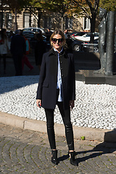 Olivia Palermo attending the Miu Miu's Spring-Summer 2016/2017 Ready-To-Wear collection show in Paris, France, on October 5, 2016. Photo by Nicolas Genin/ABACAPRESS.COM