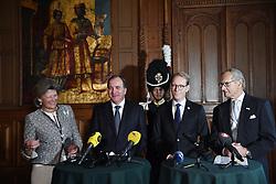 September 4, 2017 - Stockholm, Sweden - Kirstine von Blixen-Finecke, Stefan Löfven, Tobias Billström, Ingemar Eliasson..Announcement of the name of prince Carl Philip's and princess Sofia's newborn son,  prince Gabriel Carl Walther, Royal Palace, Stockholm, 2017-09-04..(c) ALLARD LASSE  / Aftonbladet / IBL BildbyrÃ¥....* * * EXPRESSEN OUT * * *....AFTONBLADET / 2116 (Credit Image: © Allard Lasse/Aftonbladet/IBL via ZUMA Wire)