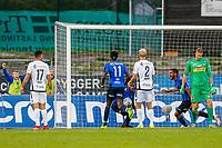 Fotball , 1. september 2018 , Eliteserien<br /> Stabæk - Sandefjord<br /> Franck Boli, Stabæk<br /> 3-3 mål Stabæk<br /> Foto: Christoffer Hansen , Digitalsport