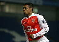 Arsenal midfielder Tyrell Robinson during the Barclays U21 Premier League match between Brighton U21 and Arsenal U21 at the American Express Community Stadium, Brighton and Hove, England on 30 November 2015. Photo by Bennett Dean.