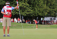 15 AUG 23  Korean Lydia Ko ices her win with a fine putt during the playoff following The Canadian Pacific Women's Open at The Vancouver Golf Club in Coquitlam, British Columbia, Canada.(photo credit : kenneth e. dennis/kendennisphoto.com)