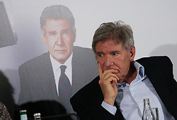 "File photo : US actor Harrison Ford attends a press conference for 'Morning Glory'  held at Meurice Hotel in Paris, France, January 14, 2011. The 72-year-old, star of the Indiana Jones and Star Wars films, reported engine failure and crash-landed his vintage plane on a Venice golf course in Los Angeles. He was breathing and alert when medics arrived and took him to hospital in a ""fair to moderate"" condition, a fire department spokesman said. Photo by Denis Guignebourg/ABACAPRESS.COM  