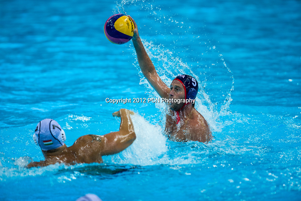 Adam Wright (USA) during the USA vs.Hungary Men's Water Polo game at the Olympic Summer Games, London 2012