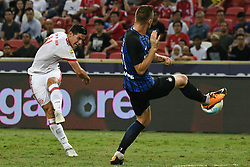 July 27, 2017 - Bayern Munich's player James Rodriguez (L) competes during the International Champions Cup match between Bayern Munich and Inter Milan held in Singapore's National Stadium. (Credit Image: © Then Chih Wey/Xinhua via ZUMA Wire)