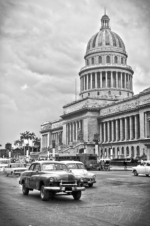 The muscle cars of the 50's still remain in Cuba.