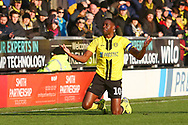 Burton Albion forward Lucas Akins (10) appeals for a free kick during the EFL Sky Bet League 1 match between Burton Albion and Oxford United at the Pirelli Stadium, Burton upon Trent, England on 2 February 2019.