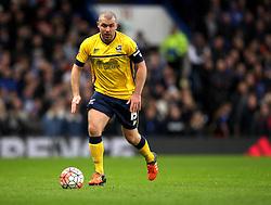 Stephen Dawson of Scunthorpe United - Mandatory byline: Robbie Stephenson/JMP - 10/01/2016 - FOOTBALL - Stamford Bridge - London, England - Chelsea v Scunthrope United - FA Cup Third Round