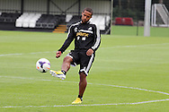 Wayne Routledge of Swansea city in action. Swansea city FC team training in Llandore, Swansea,South Wales on Thursday 15th August 2013. The team are preparing for the opening weekend of the Barclays premier league when they face Man Utd. pic by David Richards,  Andrew Orchard sports photography,