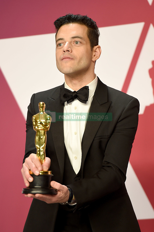 Rami Malek, winner of Best Actor for 'Bohemian Rhapsody,' poses in the press room during the 91st Annual Academy Awards at Hollywood and Highland on February 24, 2019 in Los Angeles, CA, USA. Photo by Lionel Hahn/ABACAPRESS.COM