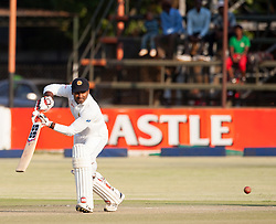 Sri Lanka batsman Dilruwan Perera in action during the 100th test match played by Zimbabwe in a match with Sri Lanka at Harare Sports Club 29 October 2016.