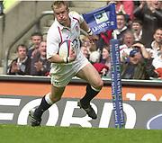 Twickenham. England. RFU Stadium, Surrey. <br /> Photo Peter Spurrier25/05/2003<br /> 2003 - Rugby - England v Barbarians.<br /> Jamie Noon         [Mandatory Credit: Peter SPURRIER/Intersport Images]