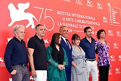 Jury photocall during the 75th Venice Film Festival. 29 Aug 2018 Pictured: Michael Almereyda, Mohamed Hefzy, Fatemeh Motamed-Aria, Alberto Barbera,Athina Tsangari, Andrea Pallaoro, Alison Maclean. Photo credit: M. Angeles Salvador/MEGA TheMegaAgency.com +1 888 505 6342