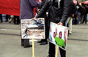 Palestinian protest to gain attention to the Palestine cause. Berlin, Germany.