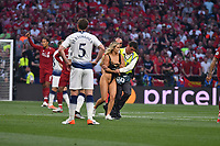 Football - 2019 UEFA Champions League Final - Liverpool vs. Tottenham Hotspur<br /> <br /> female pics invader, at Wanda Metropolitano, Madrid.<br /> <br /> COLORSPORT/WINSTON BYNORTH